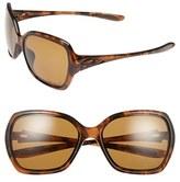 Oakley Women's 'Overtime(TM)' 59Mm Polarized Sunglasses - Polished Black/ Grey Polarized
