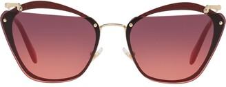Miu Miu Cut-Out Square-Frame Sunglasses