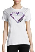 Carven Cotton Heart Graphic Tee