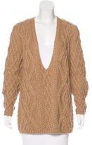 Chloé Wool & Alpaca-Blend V-Neck Sweater