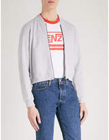 Kenzo Tiger-embroidered cotton-jersey bomber jacket