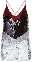Altuzarra sequinned colour block top - women - Silk/Polyester - 36