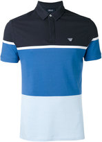 Armani Jeans colour block polo shirt - men - Cotton/Spandex/Elastane - S
