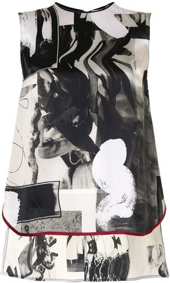 Roksanda Abstract-Print Silk Top