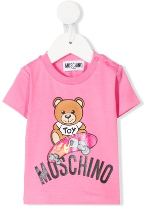 MOSCHINO BAMBINO Skating Bear T-shirt