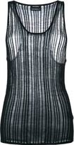 Anthony Vaccarello knitted tank top - women - Viscose - 38