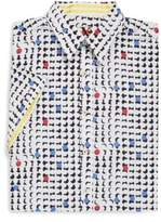 Robert Graham Big & Tall Windtalkers Cotton Button Down