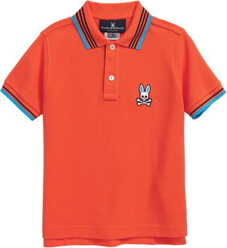 Psycho Bunny Kids' Ashbourne Tipped Pique Polo