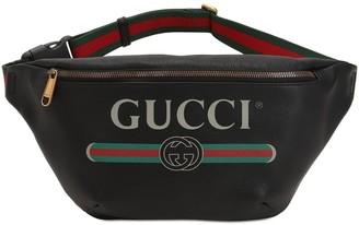 Gucci Large Print Leather Belt Bag