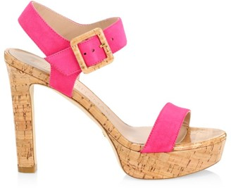 Stuart Weitzman Alesha Suede Platform Sandals