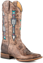 Roper Brown Arrow Distressed Western Boot - Women