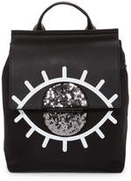 KENDALL + KYLIE Kendall & Kylie Annabelle Evil Eye Nylon & Leather Backpack