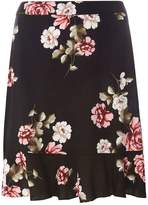 Dorothy Perkins Black Floral Print Pephem Mini Skirt