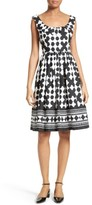 Kate Spade Women's Lantern Print Scoop Neck Dress