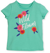 Kate Spade Wild Flower Jersey Tee, Turquoise, Size 2-6