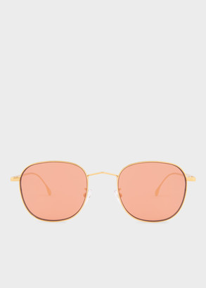 Paul Smith Gold 'Arnold' Sunglasses