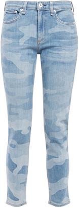 Rag & Bone Cate Printed High-rise Skinny Jeans