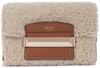 Jimmy Choo Carolina Small shearling shoulder bag