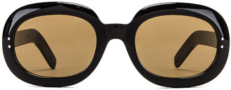Gucci Small Acetate Sunglasses in Brown | FWRD