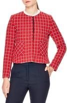 Sandro Women's Tessy Check Tweed Jacket