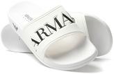 Armani Jeans White Logo Rubber Slides