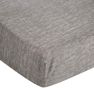 Calvin Klein Acacia Grey Textured Fitted Sheet - Super King