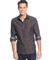 Tasso Elba Men's Long-Sleeve Paisley Jacquard Shirt