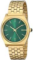 Nixon Men's Quartz Watch Time Teller Green Sunray A0451919-00 with Leather Strap