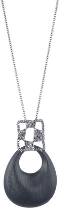 Alexis Bittar Pave Checkerboard Large Link Pendant Necklace