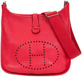 One Kings Lane Vintage Hermès GM Rose Jaipur Clemence Evelyne