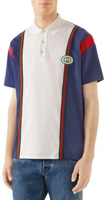 Gucci Oversize-Fit Heavy Cotton Jersey Polo