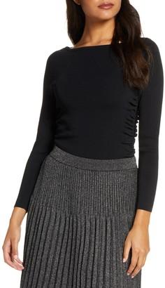 Eliza J Long Sleeve Rib Sweater