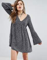Denim & Supply By Ralph Lauren Ditsy Print Babydoll Dress With Bell Sleeve