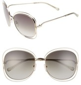 Chloé Women's Carlina 60Mm Gradient Les Sunglasses - Gold/ Green