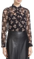 Kate Spade Women's 'Ditsy Burst' Ruffle Silk Chiffon Blouse