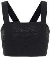 Thumbnail for your product : Lanston Viper snake-print sports bra