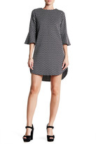 Bobeau Trumpet Sleeve Dress