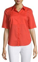CNC Costume National Short-Sleeve Slim-Fit Top, Orange