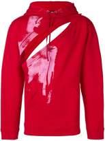 Raf Simons cut out detail hoodie