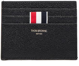 Thom Browne Pebble Grain Cardholder in Black | FWRD