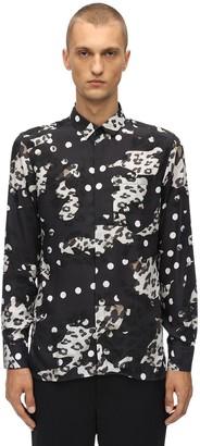 Neil Barrett Leo Print Tencel Poplin Shirt
