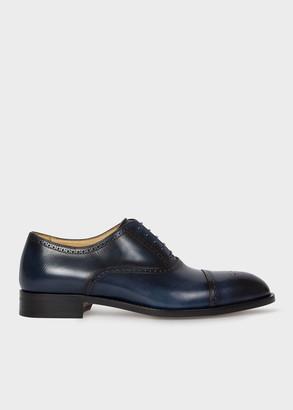 Paul Smith Men's Dark Blue Calf Leather 'Sonnet' Oxford Shoes