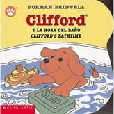 "Scholastic Clifford's Bathtime/Clifford y la Hora del Bano"" by Norman Bridwell (English/Spanish)"
