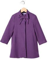 Oscar de la Renta Girls' Bow Wool Coat