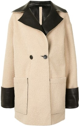Proenza Schouler White Label Faux-Shearling Reversible Coat