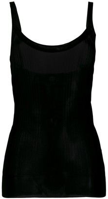 Dolce & Gabbana Pre Owned 2000's Sheer Ribbed Tank
