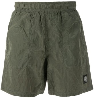 Stone Island Logo Embroidered Swimming Trunks