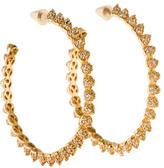 Eddie Borgo Crystal Cone Hoop Earrings