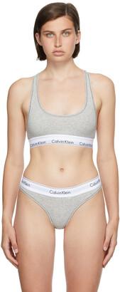 Calvin Klein Underwear Grey Unlined Modern Bralette