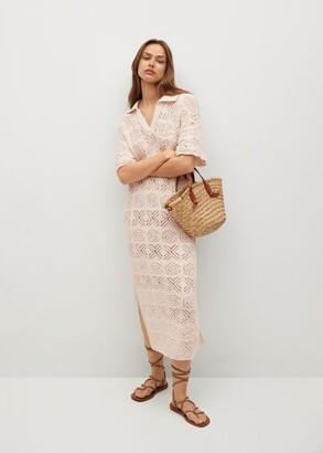 MANGO Crochet cotton dress